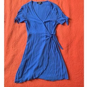 Lulus Blue Wrap Dress
